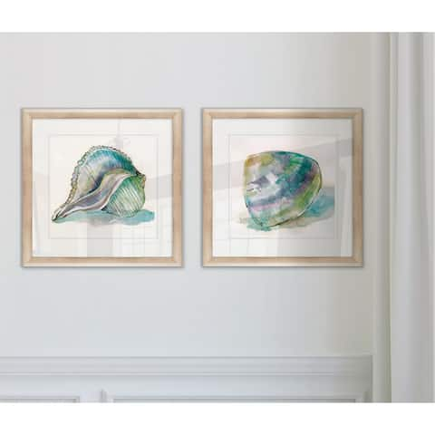 Wexford Home 'Malecon Shell I' Framed Prints (Set of 2)