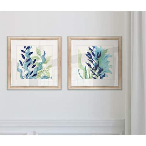 'Blue Coral I' Framed Giclee Print Set