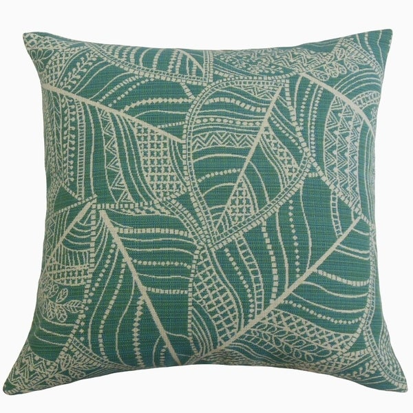 The Pillow Collection Zandophen Floral Decorative Throw Pillow