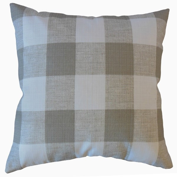 The Pillow Collection Jaspen Plaid Decorative Throw Pillow