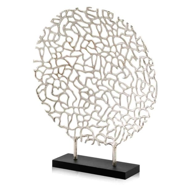 Modern Day Accents Coral Round Sculpture on Base