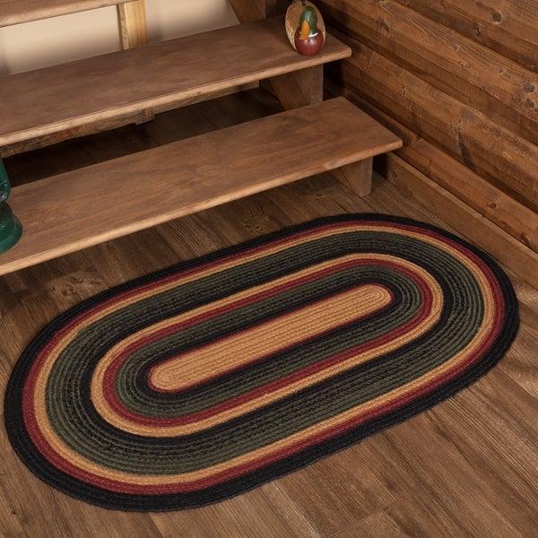 Red Rustic Flooring VHC Wyatt Rug Jute Plaid - 4' x 6'