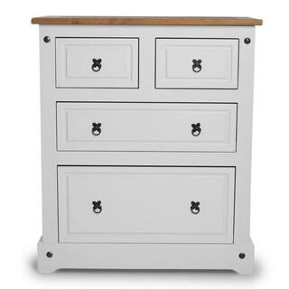 Copper Grove Versailles 4-drawer White Wood Dresser