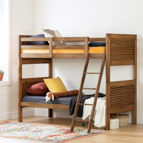 South Shore Lubello Solid Wood Bunk Beds