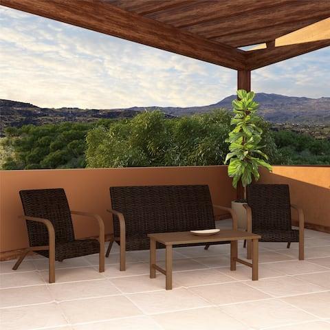 COSCO Outdoor Furniture Villa Park SmartWick Patio Conversation Set (4-Piece Set)