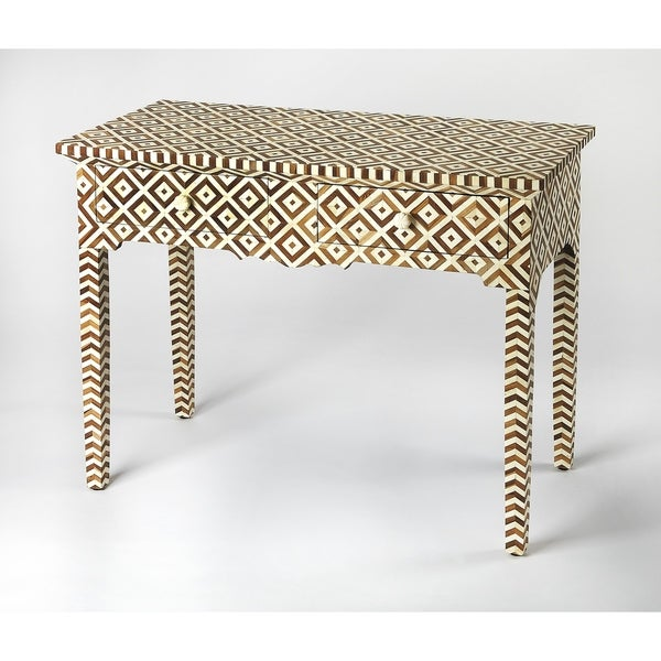 Butler Crispin Wood & Bone Inlay Console Table