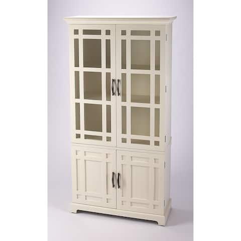 Handmade Revival White Tall Cabinet (Indonesia)