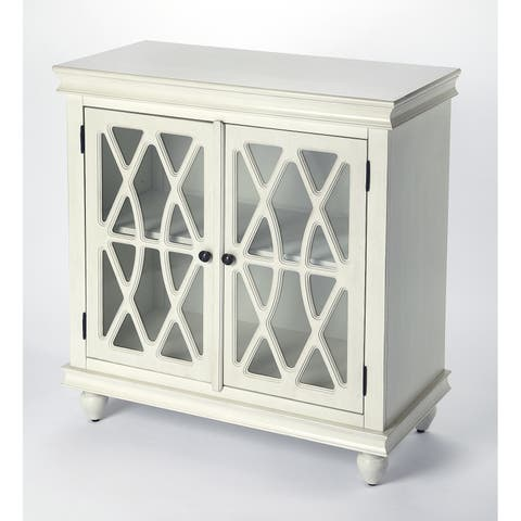 Butler Lansing Transitional Off White Rectangular Wooden Accent Cabinet