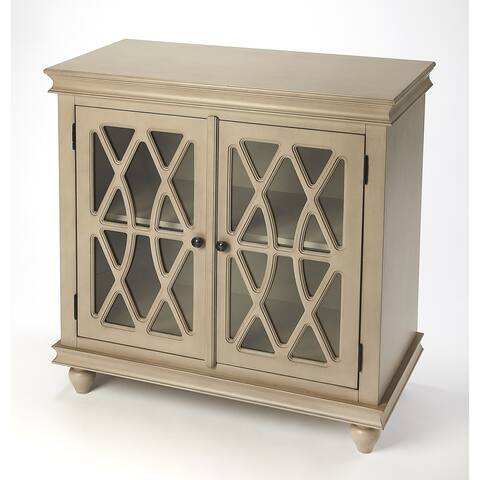 Handmade Butler Lansing Natural Wood 2 Door Accent Cabinet