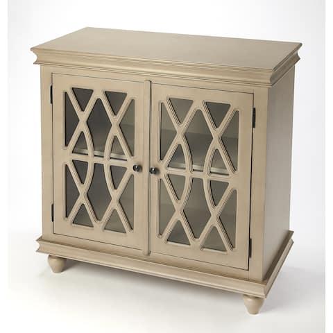Butler Lansing Transitional Natural Wood 2 Door Rectangular Accent Cabinet