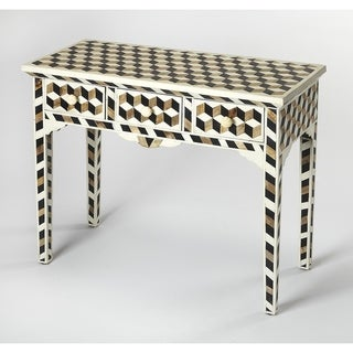 Butler Lamar Wood & Bone Inlay Console Table