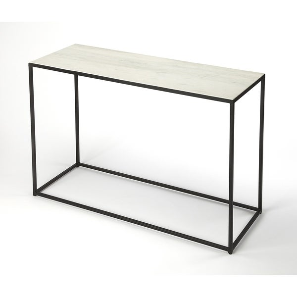 Handmade Butler Phinney Marble and Metal Console Table (India)