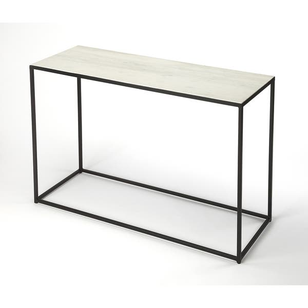 Shop Handmade Butler Phinney Marble And Metal Console Table India