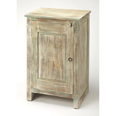 Butler Hollister Transitional Distressed Wood Rectangular Accent Cabinet - Gray