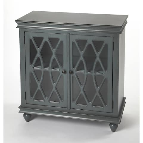 Butler Lansing Transitional Twilight Blue 2 Door Rectangular Accent Cabinet