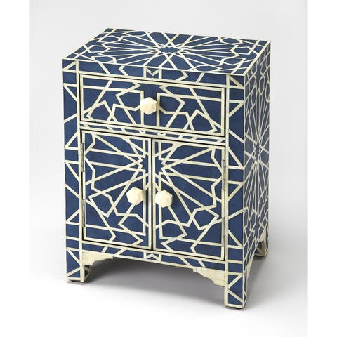 Butler Camile Transitional Rectangular Blue Bone Inlay Accent Chest