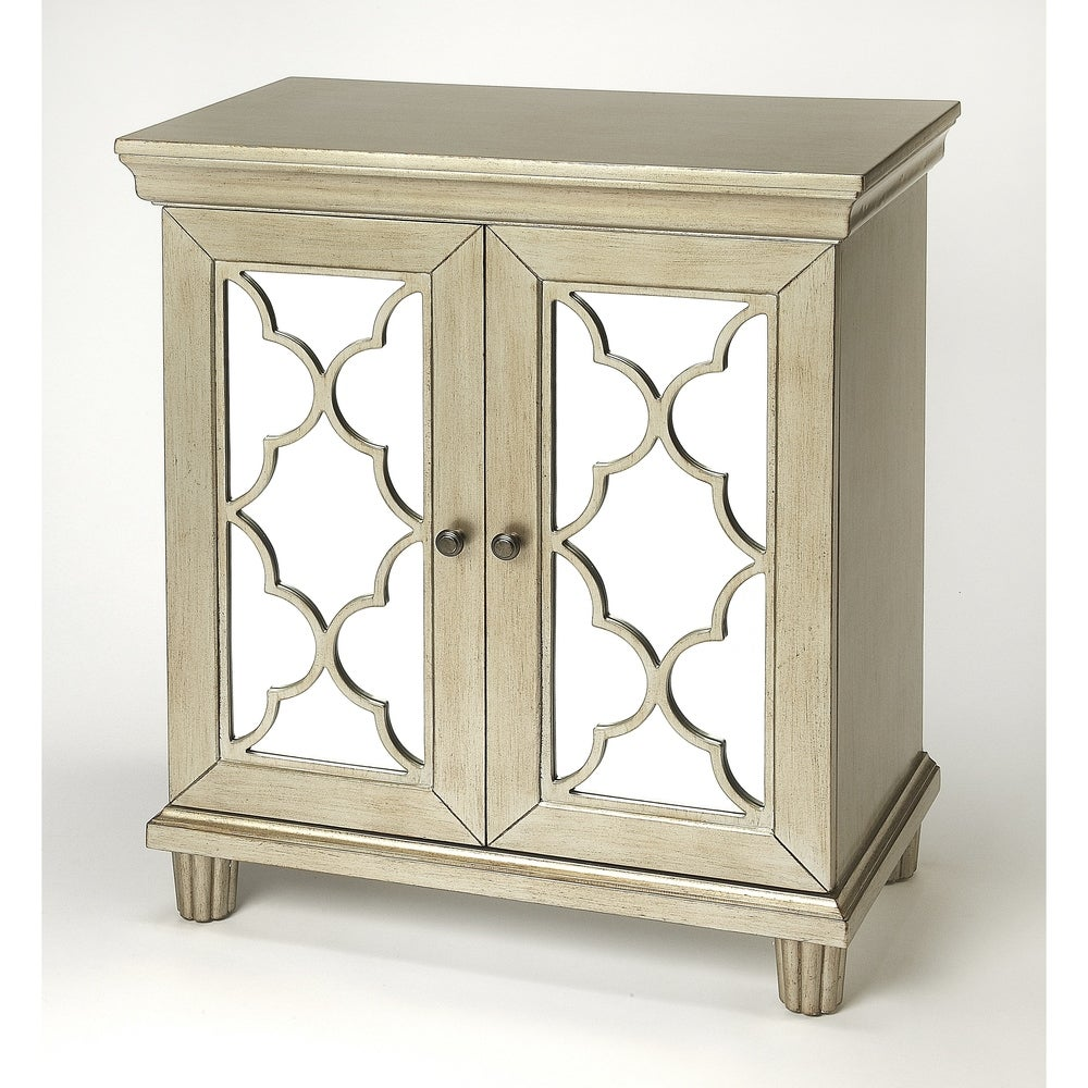 Butler Handmade Jocelyn Silver Accent Cabinet (India) (Silver)