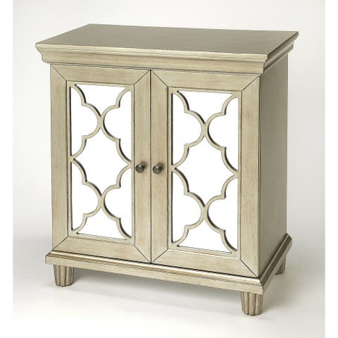 Handmade Jocelyn Silver Accent Cabinet (India)