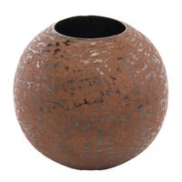 Modern Day Accents Bola Faux Leather Vase
