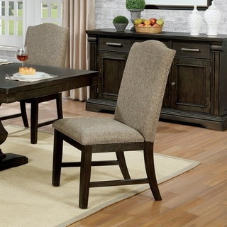 The Gray Barn Ruddy Road Transitional Espresso Side Chairs (Set of 2)