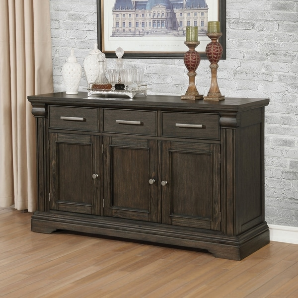 The Gray Barn Ruddy Road Espresso Transitional 60-inch Server