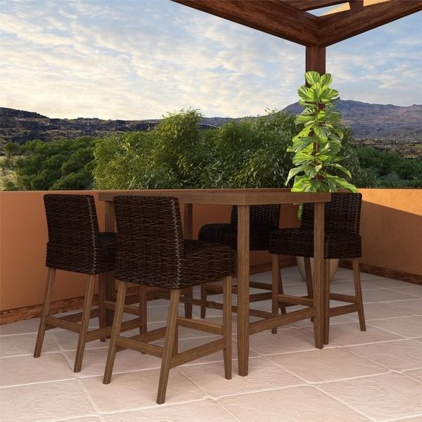 Havenside Home Novestra 5-piece Outdoor Furniture SmartWick Patio Dining Set