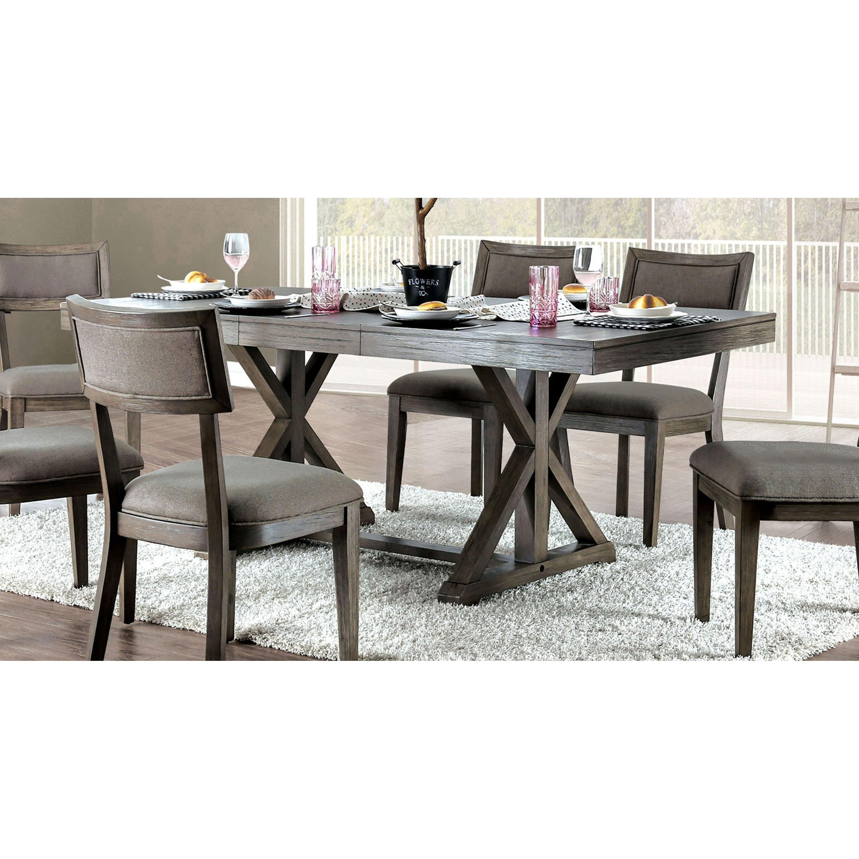 Carbon Loft Valjean Grey Wood Dining Table
