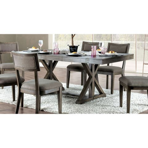Carbon Loft Valjean Grey Wood Dining Table