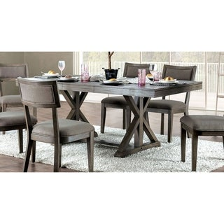 Link to Carbon Loft Valjean Grey Wood Dining Table Similar Items in Dining Room & Bar Furniture