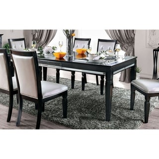 Silver Orchid Amann Contemporary 84-inch Black Dining Table