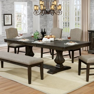The Gray Barn Ruddy Road Transitional Espresso Dining Table