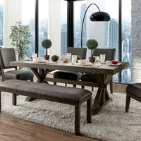 Spokane Rustic 72-inch Grey Dining Table by FOA