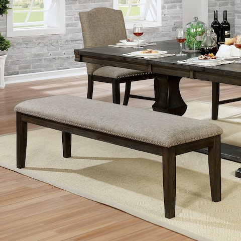 The Gray Barn Ruddy Road Transitional Espresso Dining Bench