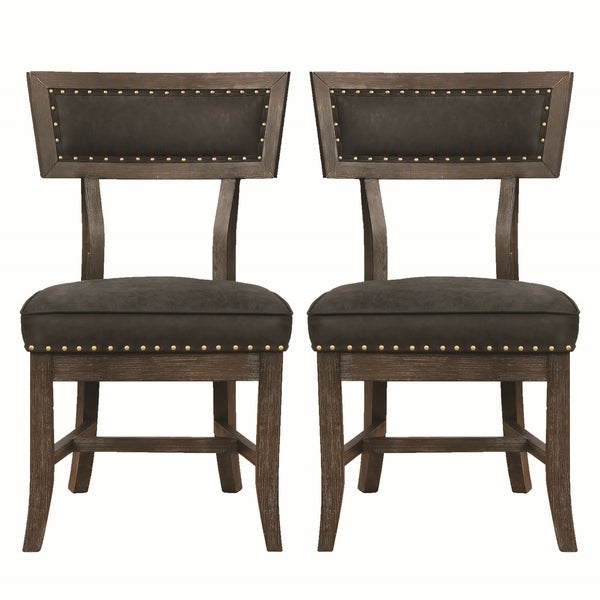 Set Of 2 Dining Chairs: Shop Vintage Inspired Rustic Black Dining Chairs With