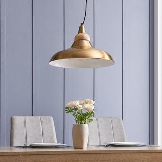 Link to Carson Carrington Tova Metal and Wood Art Deco Pendant Light - Brass/Natural Similar Items in Pendant Lights