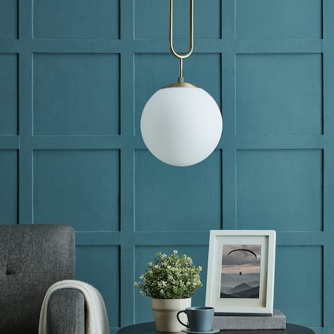 Carson Carrington Lemmenjoki Modern Vintage Metal and Glass Pendant Lamp