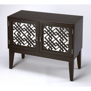 Handmade Ursula Black Mirrored Console Cabinet (Vietnam)