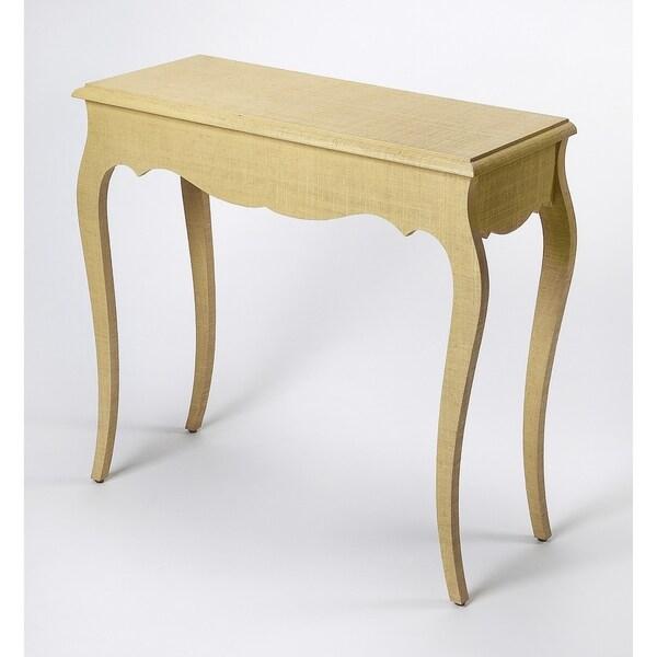 Butler Felicia Natural Raffia Console Table