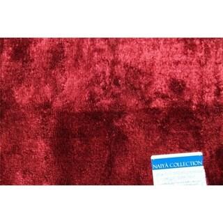 "Persian Rugs 20x54  Burgundy bath mat - 1'8"" x 4'6"""