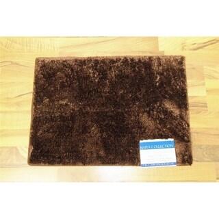"Persian Rugs 20x54  Chocolate bath mat - 1'8"" x 4'6"""