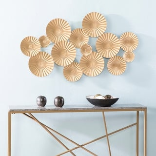 The Curated Nomad Lomita Goldtone Plates Wall Sculpture