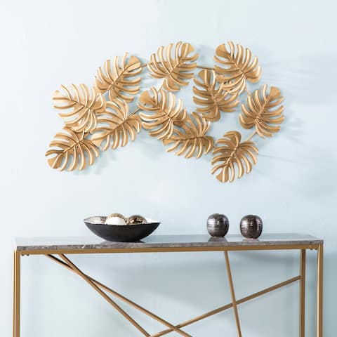The Curated Nomad Lomita Gold Leaves Wall Sculpture