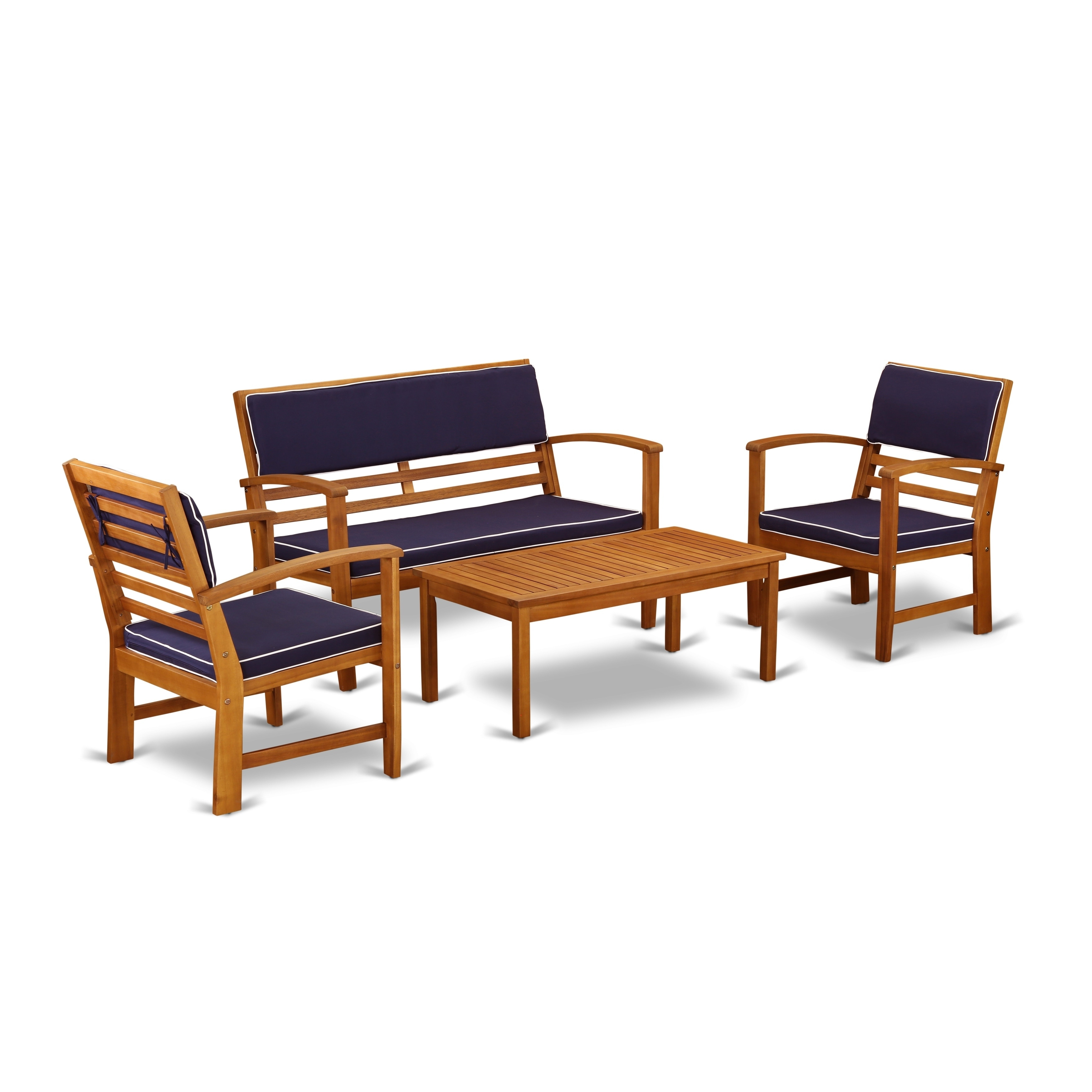 Groovy Bcossna 4Pc Set Offers A Bench And 2 Arm Chairs Plus A Small Table Customarchery Wood Chair Design Ideas Customarcherynet