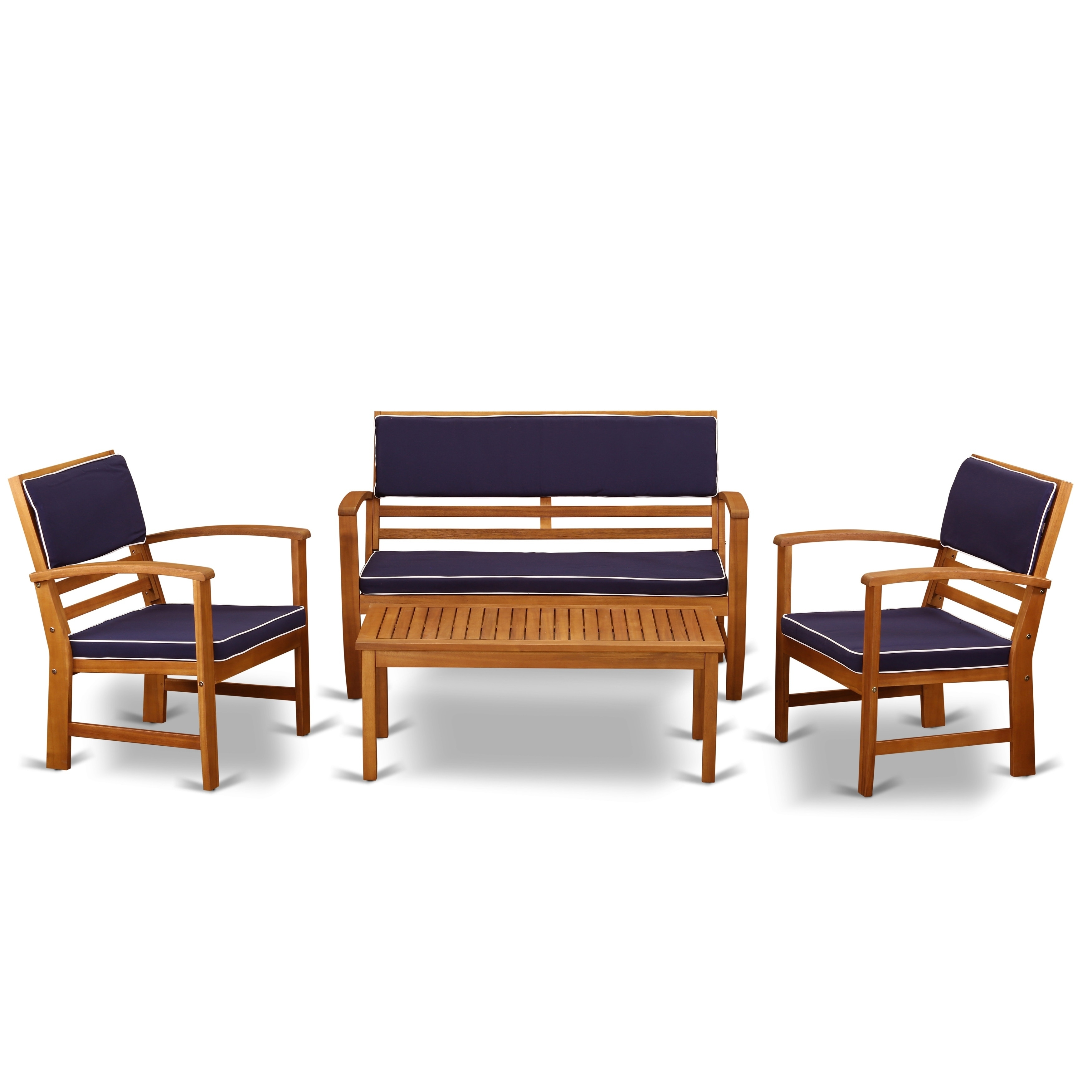 Superb Bcossna 4Pc Set Offers A Bench And 2 Arm Chairs Plus A Small Table Customarchery Wood Chair Design Ideas Customarcherynet