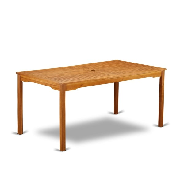 Bcmtrna Rectangular Terrace Acacia Wood Dining Table Natural Oil Finish N A Free Shipping Today 27600259