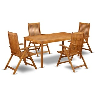 CMCN5NC5N This 5 Pc Acacia Outdoor Sets provides you an outdoor table and four foldable outdoor chairs