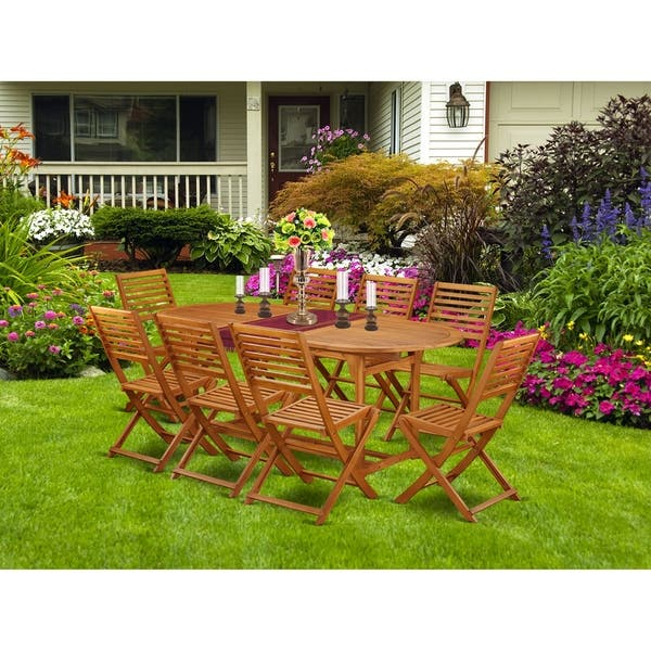 Bsbs5cwna This 5 Pc Acacia Wooden Outside Patio Sets