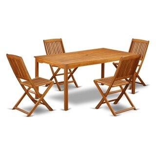 CMCM5CWNA This 5 Pc Acacia Outdoor patio Sets provides you one outdoor table and 4 chairs