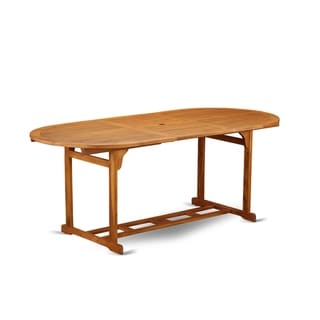 BBSTXNA Oval Terrace Acacia solid wood Dining Table - Natural Oil Finish