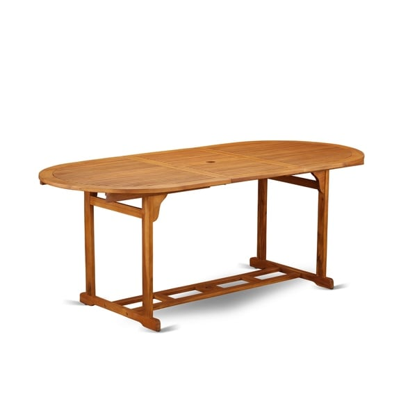 Terrace Acacia Solid Wood Natural Oil Finish Dining Table